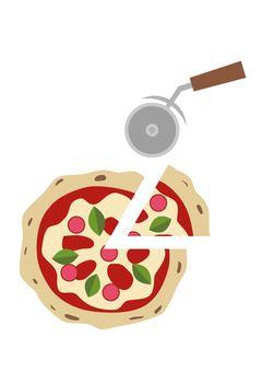 ピザとピザカッター