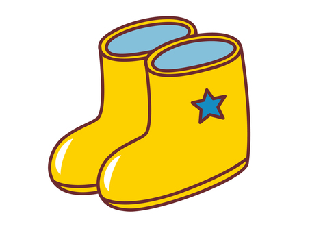 Boots for children boys yellow