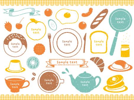 Stamp dish decoration set 01
