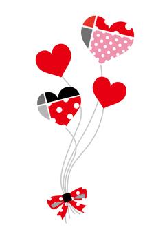 Heart balloons _ red black