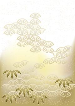 お正月笹の葉&青海波39