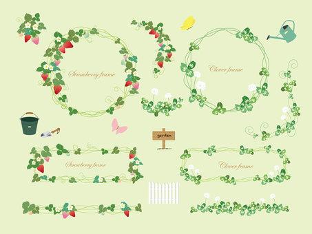 Strawberry, clover frame
