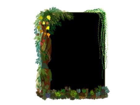 植物的黑板框架