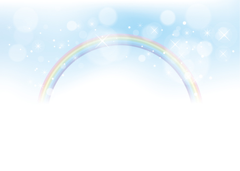 Rainbow and sky background material 04
