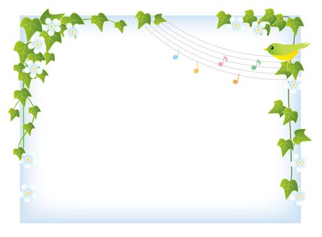 덩굴 잎 프레임 (간단)