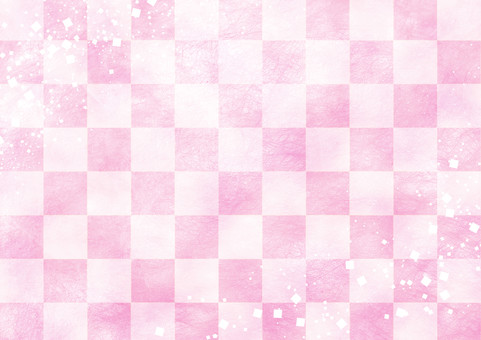 Checkered pattern peach