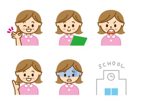 Female character teacher
