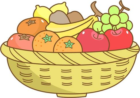 Fruits entering the basket