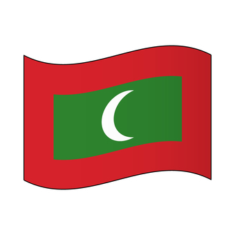 馬爾代夫的旗幟/拍打