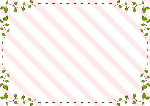 Leaf stitch frame stripe background