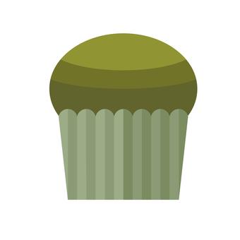 Simple illustration of matcha muffin