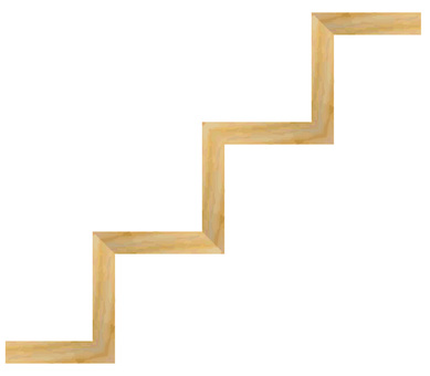 Stair step wooden signboard landmark sign guide guide board
