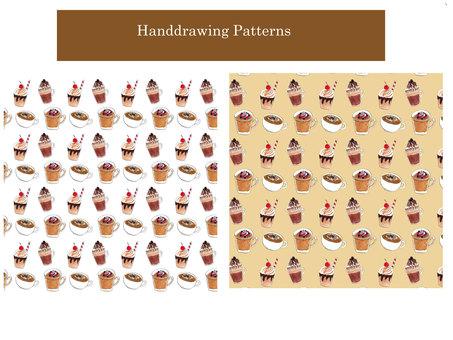 Hand drawn pattern 01