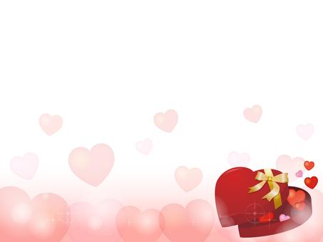 Heart gift box decorative frame 5