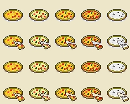 Dot picture pizza