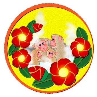 Monkey and camellia