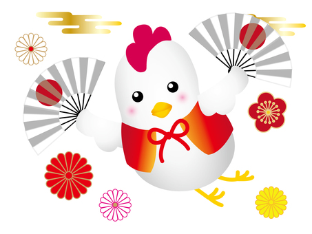 Rooster New Year Illustration 001
