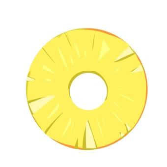 Round cut pineapple