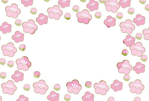 Flower frame of spring