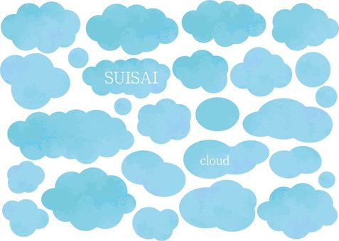 Cloud water color balloon