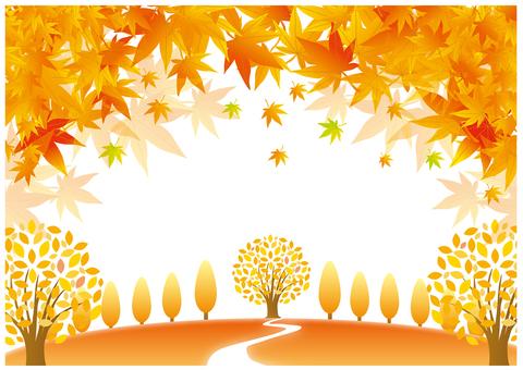 Seasonal landscape of autumn leaves Part 2