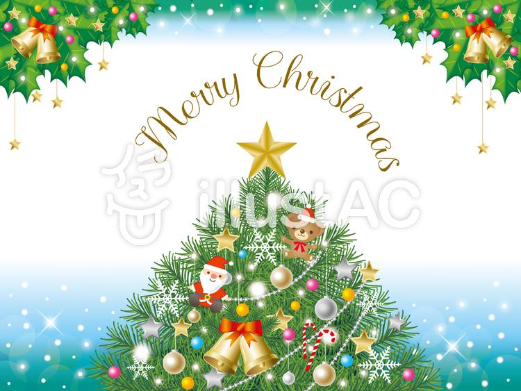 ツリーのクリスマスカードイラスト No 914797無料イラストなら