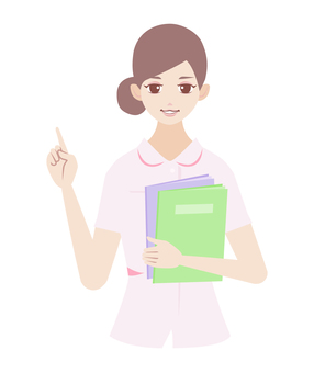 Female with pointing pose (in nurse) 3