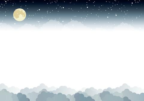 Moon's night sky frame