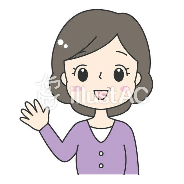 かわいい中年女性おばさんイラスト No 1289865無料イラストなら