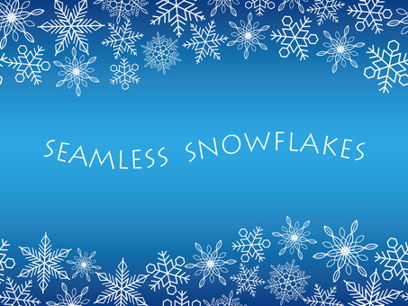 Seamless snowy crystal background