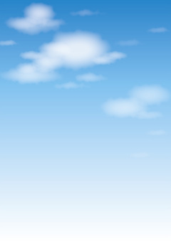 Blue sky and clouds (vertical)