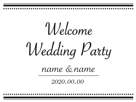 Wedding Welcome Board 1