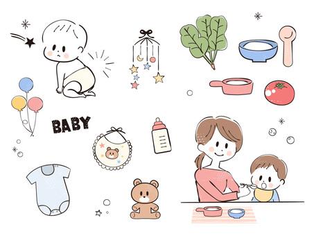 아기 이유식 아기 용품