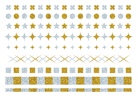 Line set (gold and silver)