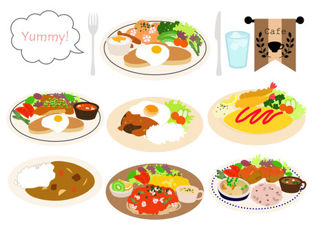 Cafe Plate Lunch Set