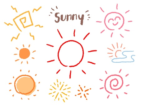 Rough hand drawn sun illustration