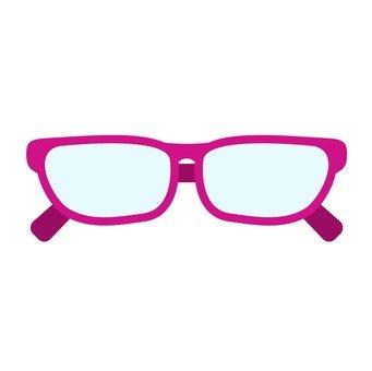 안경 (빨간색)