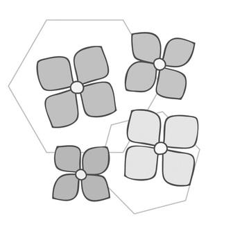 Hydrangea monochrome ver.
