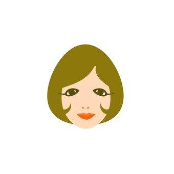 Inner turn short hair female