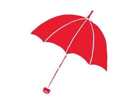 Folding umbrella-open red
