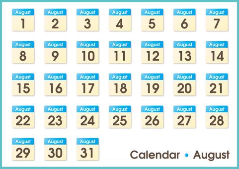 Calendar only August