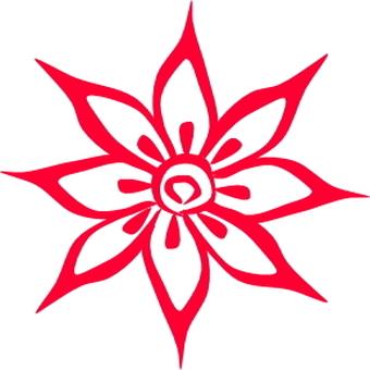 메헹디 풍의 꽃