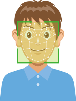 Image of face recognition system Male