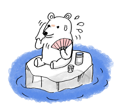 Shirokuma and ice
