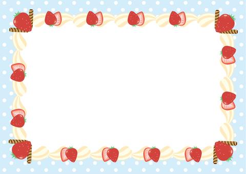Strawberry cream frame square