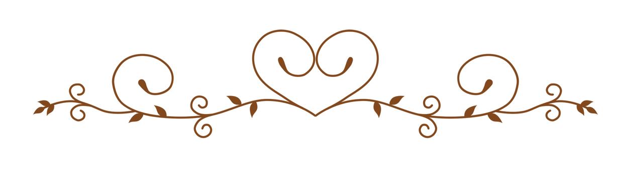 Decorative ruler Heart