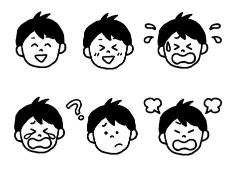 Male face set (simple)