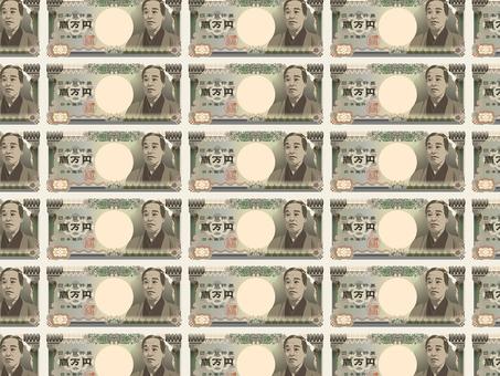 Ten thousand yen bill pattern