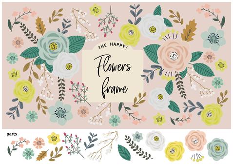Cute flower background Handwritten illustration material