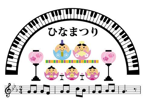Music illustration 02_02 (Hinamatsuri)